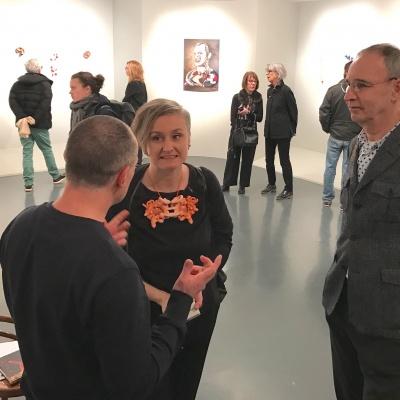 Opening DAVID BIELANDER exhibition at Mudac Museum, Lausanne