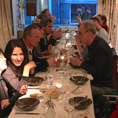 At the occasion of the 10 Years Anniversary of Galerie Rob Koudijs: diner with all the artists of the gallery!
