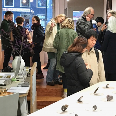 Crowded opening with great work by JIRO KAMATA and PAUL ADIE. Already the last exhibition of the year.